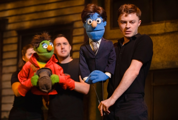 The Theatre Twittic Reviews - Avenue Q UK Tour at the Wolverhampton Grand Megan Armstrong and Tom Steedon as Nicky and Lawrence Smith as Rod